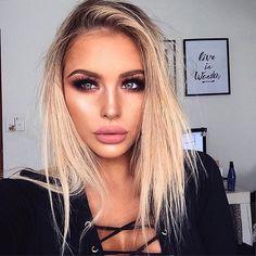 (❛‿❛✿̶̥̥) Sexy Makeup, Full Face Makeup, Prom Makeup, Love Makeup, Makeup Inspo, Hair Makeup, Individual Lashes, Matte Pink, Beauty Make Up