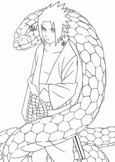 Snake Naruto Coloring Pages For Kids Printable Free 261992