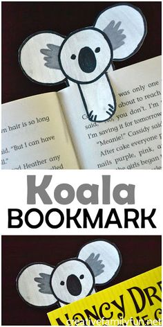 Mark your place in your favorite book with this cute koala bookmark. It's so easy to make with this step-by-step tutorial. #koala #bookmark #kidscraft #CreativeFamilyFun