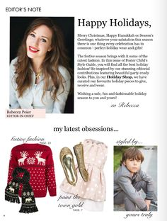 Dress, Hucklebones, featured on the Letter from the Editor of Poster Child Style.
