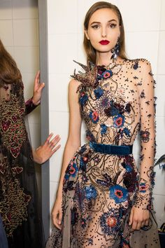 Elie Saab at Couture Fall 2016 - Backstage Runway Photos