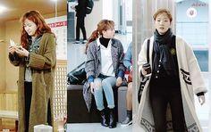 winter korean fashion which looks great Kpop Outfits, New Outfits, Fashion Outfits, Fashion Tips, Fashion Design, Korean Fashion Winter, Asian Fashion, Autumn Fashion, College Casual