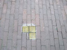 Stolpersteine in Amsterdam. During the war, 80% of the Jewish population was murdered.