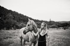 Senior session with a horse..  Amanda K Photo Art. Super cute!