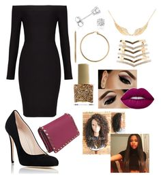 """""""If I were in Criminal Minds 6.0(club undercover)"""" by neverlosehope7 on Polyvore featuring BCBGMAXAZRIA, Silver Rain, Barneys New York, Charlotte Russe, Silver Classics, Amanda Rose Collection, ncLA and Valentino"""