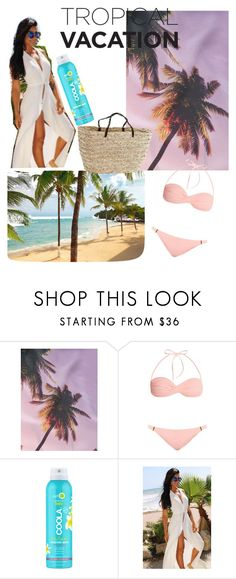"""""""tropical vacation"""" by floodh ❤ liked on Polyvore featuring Brigitte, Melissa Odabash and COOLA Suncare"""