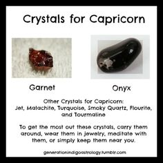 ~Crystals for Capricorn~ #Astrology   To have a chart done visit:  http://indigoastrology.storenvy.com