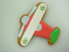 Cute biplane cookie