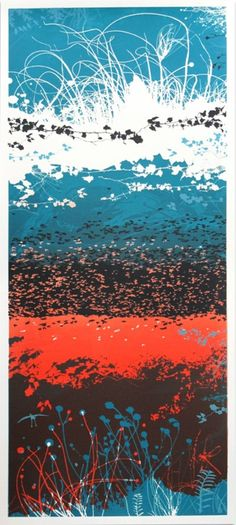 A beautiful screen print by Chris Keegan: This four colour print has a tall thin shape and is inspired by oriental print making enabling a completely different composition to be created. With these prints i have created a number of layered...
