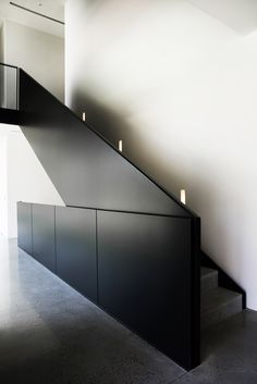 Frame House Melbourne is a minimalist residence located in Melbourne, Australia, designed by Carr Design Group. House Staircase, Interior Staircase, Home Stairs Design, Interior Exterior, House Design, Stair Design, Steel Stairs, Stair Detail, Archi Design