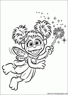 Abby Cadabby Coloring Pages To Print Adult Ab Cadab Page Elmo And For