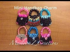 Rainbow Loom Mini Purse Charm for Mother's Day: How To Video on a SINGLE Loom