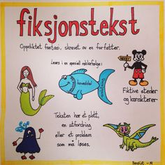 Fiksjonstekst Dramatic Play, Too Cool For School, Kids Education, Kids Learning, Grammar, Norway, Literacy, Language, Classroom