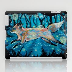 "Even in the Dark iPad Case by Jellywell Art - $60.00 ""We Find Each Other / Even In the Dark"" Pillows & Prints. #jellywellart #foxes #ink #illustration #teenyvulpini #love #graphic #fox #foxy #foxden #foxlove #feelingfoxy #design #art"