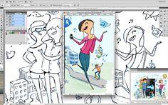 Imagen para taller Photoshop para Ilustradores. Adriana santos, Mon
