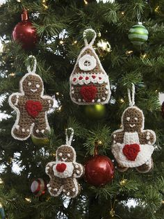 Ravelry: Gingerbread Tree Ornaments pattern by Michele Wilcox