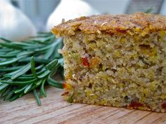 Vegan Gluten Free Garlic Rosemary & Chilli CornbreadThis gluten free vegan cornbread recipe is SO delicious. You would never know it was dairy free, egg free, soy free and nut free too! A-MAZING!