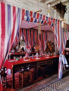 La Maison Boheme: Home Tour   French Painter Christian de Laubadère sets up a tent in his loft