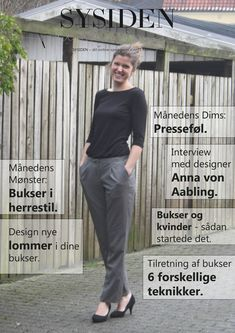 Learn how to sew pants for yourself and vary the design to fit exactly ., Learn how to sew pants for yourself, and vary the design to suit you exactly. The sewing techniques you learn in picture guides and you learn how to m. Sewing Pants, Sewing Clothes, Diy Clothes, Pdf Sewing Patterns, Sewing Tutorials, Learn To Sew, Sewing Techniques, Pattern Making, Nye