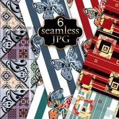 Set of seamless patterns. by Futurel on @creativemarket