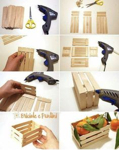 Diy Wood Box, Wood Boxes, Wooden Decor, Wooden Diy, Diy For Teens, Diy For Kids, Diy Popsicle Stick Crafts, Popsicle Sticks, Diy Casa