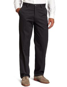 Dockers Easy Khaki D3 Classic-Fit Flat-Front Pant Steelhead size 36x32