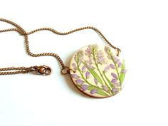 Real flower necklace pressed flower necklace by FloraBeauty, $26.00