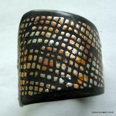 Armbånd. Cuff bracelet. Friendly plastic. Karin Schmidt, Friendly Plastic, Polymer Clay, Bracelets, Crafts, Inspiration, Jewelry, Biblical Inspiration, Manualidades