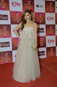 Sana Khan at the Indian Telly Awards 2015. #Bollywood #Fashion #Style #Beauty #Hot #Sexy