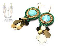 Sutasz-Anka: Cleopatra earrings http://www.soutage.com/2013/02/cleopatra-kolczyki.html