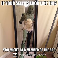 RPF Members ROCK! RPF member MrGzilla's Creature from the Black Lagoon suit #CraftYourFandom