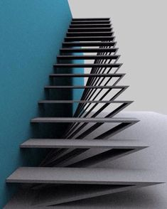 Staircase ideas - design and layout ideas to inspire your own staircase remodel . : Staircase ideas – design and layout ideas to inspire your own staircase remodel painted diy, decorating basement remodel pictures – moder staircase ideas Stairs Architecture, Interior Architecture, Residential Architecture, Landscape Architecture, Landscape Design, Interior Design, Escalier Design, Stair Handrail, Railings