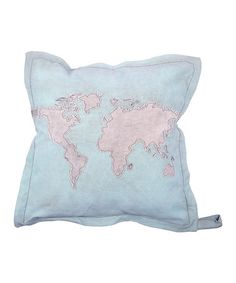 Take a look at this Blue Atlas Pillow by Karma Living on #zulily today!