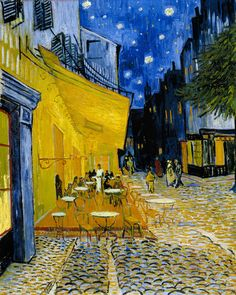 off Hand made oil painting reproduction of Cafe Terrace on the Place du Forum, one of the most famous paintings by Vincent Van Gogh. The first painting of Van Gogh's to feature his remarkable rendering of starry skies; Café Terrace on the Place . Vincent Van Gogh, Van Gogh Art, Art Van, Van Gogh Pinturas, Kunst Online, Most Famous Paintings, Famous Artwork, Famous Pieces Of Art, Van Gogh Museum