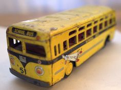 Vintage Toy School Bus