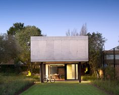 concrete and a flexible plan characterize W design's home studio