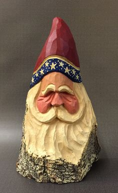 A personal favorite from my Etsy shop https://www.etsy.com/listing/270522879/hand-carved-original-patriotic-santa