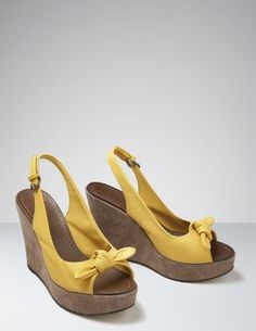 wedges wedges wedges! my favorite! and of course i'd need a pair in yellow...