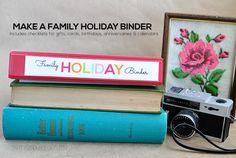 Holiday Mini Binders