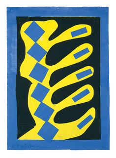 Henri Matisse, Composition, Yellow, Blue and Black, c. Henri Matisse, Matisse Art, Matisse Paintings, Watercolor Paintings, Watercolor Artists, Oil Paintings, Painting Art, Marcel Duchamp, Pablo Picasso