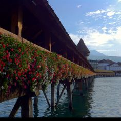 The Flower Bridge-Lucerne Switzerland