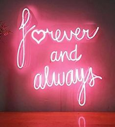 Forever And Always Neon Sign Real Neon Glass Tube Light for Sale - Hanto Neon Sign – Hanto neon sign