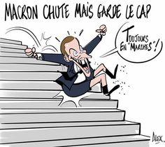 Alex (2017-06-25) France: Emmanuel Macron  ÷÷   dessin Courrier picard 25.07.2017