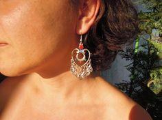 Boho Earrings Bohemian Tribal Chandelier Earrings by ebrukjewelry Tribal Earrings, Statement Earrings, Drop Earrings, Earrings Handmade, Handmade Jewelry, Unique Jewelry, Handmade Gifts, Bohemian Gypsy, Bohemian Jewelry