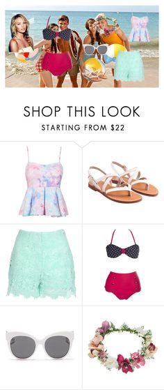 """Surf Crazy"" by rebecca-coniglio ❤ liked on Polyvore featuring Jane Norman, Blanc & Eclare and Topshop"