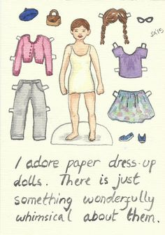 Random Thoughts of a Bored Artist: 2.0 Day 15 - Paper Dolls
