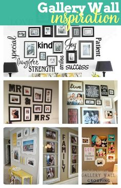 A fantastic gallery wall is a great statement piece for your home decor AND helps fill up an empty wall. In case you need helping designing a gallery wall though, here is some inspiration! | The Love Nerds