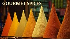 Moroccan Spice Rack by Peter Hammer Taken in one of the medinas in Morocco. I just loved the colours and shapes. Moroccan Spices, Moroccan Style, Spice Garden, Elements And Principles, Brown Eyed Girls, Cool Tables, The Right Stuff, Copper Red, Cooking School