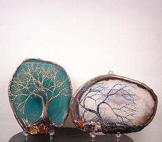 Soldered Wire Tree Sculptures