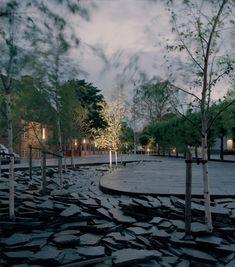 Glostrup Town Hall Park and Nyvej Landscape Plans, Urban Landscape, Landscape Art, Landscape Design, Garden Design, Open Architecture, Architecture Details, Landscape Architecture, Creative Landscape